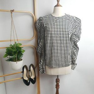 H&M Harlequin Top with Structured Sleeves
